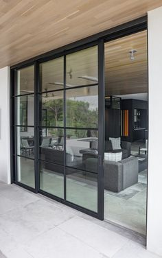 Rehme provides a large selection of fixed windows. Sliding Door Design, Modern Sliding Doors, Sliding Glass Door, Sliding Patio Doors, Glass Doors, Steel Windows, Windows And Doors, House Extension Design, House Design