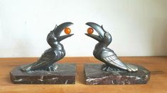 Hippolyte Moreau - Art Deco 'Toucan' bookends - Catawiki