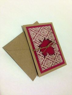 Handmade Rustic Fall/Autumn Save the Date Invitation: Custom made (Free US shipping!)