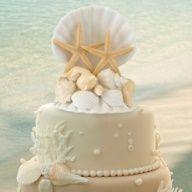 Coastal Wedding Cake Topper | Decoracion de Pastel de Bodas | Mas ideas en CasarCasar.com