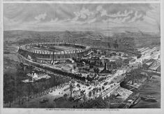 FRENCH INDUSTRIAL EXPOSITION PALACE AND CHAMP DE MARS 1867 PARIS ARCHITECTURE