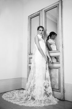 The Ianthe Dress from The Nina Rose Bridal 2016 Campaign. Nina Rose is a London based luxury silk wedding dress designer. Shot by Amelia Allen photography. Rose Centerpieces, Renaissance Era, Paris Wedding, Designer Wedding Dresses, Parisian, One Shoulder Wedding Dress, Wedding Hairstyles, Campaign, Reception