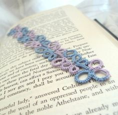 This gorgeous bookmark would make a great gift for the book lover in your life or why not treat yourself. Perfect gift for a favourite teacher. It was shuttle tatted by me in high quality pastel blue and lilac cotton threads. Pastel Blue, Lilac, Teacher Favorite Things, Cotton Thread, Book Lovers, Tatting, Crochet Earrings, Great Gifts, How To Make