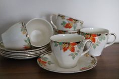 Set of six Alfred Meakin Garrick Cups by JaneAustenInspired