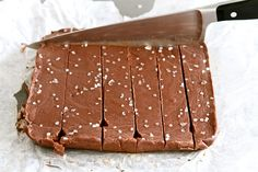 Nutella Sea Salt Fudge.