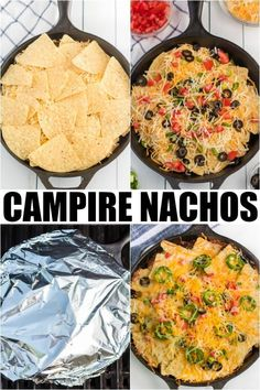 Campfire Nachos – How to Grill Nachos! Campfire Nachos – How to Grill Nachos! This Grilled Nachos Recipe over the campfire is perfect for next camping trip. Best Camping Meals, Camping Cooking, Backpacking Meals, Camping Dishes, Easy Camping Food, Camping Near Me, Family Camping, Camping Life, Camping Foods