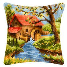 Набор для вышивания подушки Vervaco  PN-0146129 Мельница
