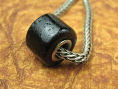 Into the Fire Lampwork Art Beads ~Noir~ Artist handmade European charm OOAK SRA #European