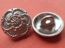 10 METALLKNÖPFE silber 14mm (5314-9x)Knöpfe Metall