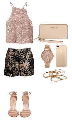 """#55"" by maksimchuk-vika on Polyvore featuring MANGO, Ted Baker, Stuart Weitzman, Aéropostale, Kendra Scott and Michael Kors"