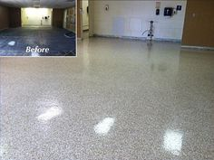 Chemical Resistant and Durable Commercial Epoxy Chip Flake Flooring in Findlay, Ohio.
