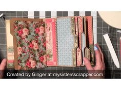 Graphic 45 File Folder Mini Album Tutorial – Part 3 – My Sisters Scrapper Mini Photo Albums, Mini Albums Scrap, Mini Scrapbook Albums, Graphic 45, Tutorial Scrapbook, Mini Album Tutorial, Scrapbook Journal, Album Book, Mini Books