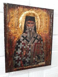 Dionysius of Zakynthos Icon, Greek Byzantine Christian Icons Gold Labels, Orthodox Icons, Bee Wax, I Icon, Athens, No Response, How To Apply, Item International, Artist