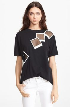 EACH X OTHER 'Polaroid' Mesh Inset Tee