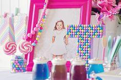 Bubblegum letter - decor for pony party