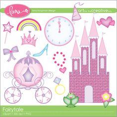 Fairytale Princess Digital Clipart. $5.00, via Etsy.
