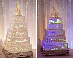 Disney Wedding Cake!!