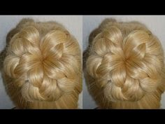 Easy and Quick Prom/Wedding Hairstyle.Evening Donut Hair Bun Updo Hairstyles Tutorial.Penteados - YouTube