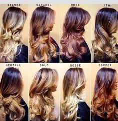 Ombre Hairstyle Dark Brown To Blond Ombre Hair  Styleoholic  Me  Pinterest