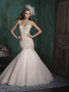 STYLE: C343  Spangled with Swarovski crystals, this organza gown strikes a dramatic silhouette.