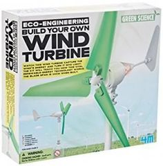Build Your Own Wind Turbine: Watch the wind turbine capture the wind's energy and turn it into light! the kit will teach you how this vital renewable-energy technology works. The wind turbine is approximately 49cm in height and the blade span is 34cm when built.