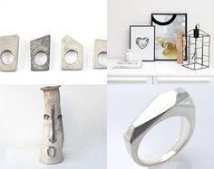 Geometric Beauties by Adrienn on Etsy featuring concrete jewelry - geometric minimalist concrete ring by shooohsJewelry