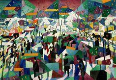 FUTURISM (also kinda Cubist)  Gino Severini, Le Boulevard - 1911