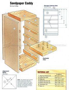 # 796 Brusný papír Caddy plány - broušení dřeva