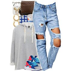 No. 600 by dessboo on Polyvore featuring Boohoo, Louis Vuitton, MICHAEL Michael Kors and NIKE