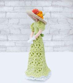 Cloth doll Crocheted Rag doll Amigurumi Art doll by ViDollStudio
