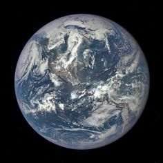 """NASA Captures """"EPIC"""" Earth Image A NASA camera on the Deep Space Climate Observatory satellite has returned its first view of the entire sunlit side of Earth from one million miles away. NASA Image of the Day Earth And Space, Nasa Photos, Photos Du, Space Photos, Les Satellites, Dramatic Photos, Earth Photos, Whole Earth, Flat Earth"""
