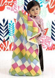 Free+Knitting+Pattern+-+Baby+Blankets+&+Afghans:+Tumbling+Blocks+Blanket