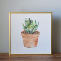 ZEBRA PLANT No. 2  12x12 Original by TakeRootDesignStudio on Etsy