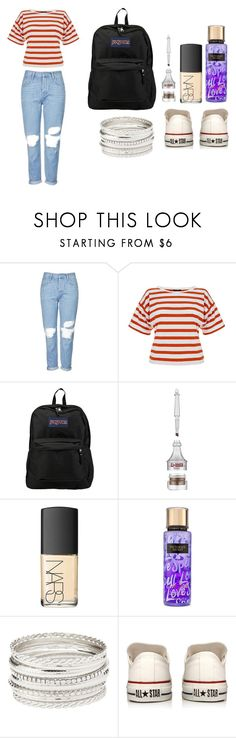 """school day #8"" by laura-naito on Polyvore featuring moda, Topshop, Theory, JanSport, NARS Cosmetics, Victoria's Secret, Charlotte Russe e Converse"