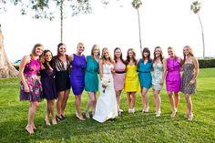 Wedding Colorful Dresses Four Seasons Santa Barbara