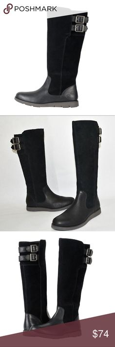 f32dd94f4e8 TIMBERLAND LAKEVILLE TALL BOOTS BLACK Complement your sweater weather  wardrobe with the gorgeous Lakeville Tall Boot