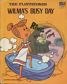 """The Flintstones Wilma's Busy Day""  Little Golden Book. Recycled Book Journal. Just $14. All Golden Books include the entire text included with the finished journal. Also? Bonus!!! I will, upon request, make a video of me reading ANY golden book to you and post said video to YouTube. Just make a note in checkout page. Here's a link to the Golden Book section of our website: http://bookjournals.com/journals/little-golden-books Or, you know, just click on this image. Love, Jacob"