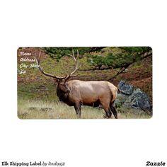 Elk Shipping Label