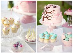 Raspberry cupcakes & cake by Call me cupcake, via Flickr