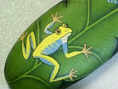 Hand painted tree frog on a leaf. If you're especially talented, this may be the one for you.