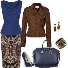 A fashion look from October 2013 featuring GANT blouses, Linea Weekend jackets and Louche skirts. Browse and shop related looks.