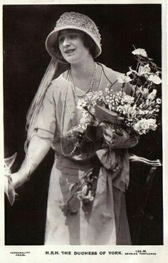 Queen Elizabeth the Queen Mother when she was the Duchess of York.