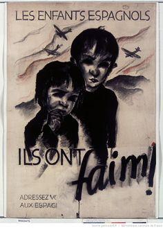 Spain - 1936-39. - GC - poster - Ils ont faim ! les enfants espagnols...