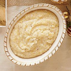 Every Southerner needs a pot of creamy, cheesy grits hidden up the sleeve for every breakfast need. Look for Parmigiano-Reggiano cheese, which adds nutty flavor and an earthy depth to the grits. If not, substitute your favorite cheese like Gouda or … Korn, Food Dishes, Side Dishes, Veggie Dishes, Pasta Dishes, Parmesan, Southern Cooking Recipes, Southern Food, Southern Dishes