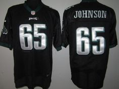 d05e0c8b9 Nike Eagles  65 Lane Johnson Black Alternate Mens NFL Elite Jersey And  nfl  jersey