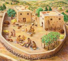 Family Dwellings - Life in Biblical Israel Historical Architecture, Ancient Architecture, Ancient Egypt, Ancient History, Hajj Pilgrimage, Religion Catolica, Environmental Art, Ancient Civilizations, Archaeology