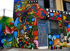 quick art projects for middle school Graffiti Art, Mural Art, Wall Art, Urbane Kunst, Amazing Street Art, Awesome Art, Street Gallery, Art For Art Sake, Community Art