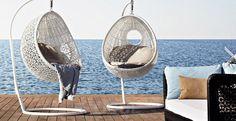 Плетеное подвесное кресло Varaschin Altea nido sospeso01