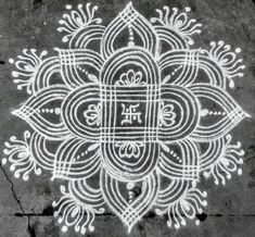 Trendy flowers pattern design line Rangoli Side Designs, Simple Rangoli Border Designs, Rangoli Simple, Rangoli Designs Latest, Free Hand Rangoli Design, Small Rangoli Design, Rangoli Patterns, Rangoli Designs Diwali, Rangoli Designs With Dots