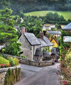 Branscombe village Devon, England.
